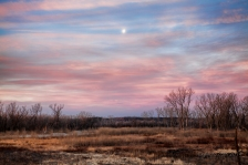 waning moon at sunrise